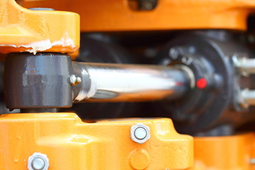 hydraulic system of a digger piston industrial detail