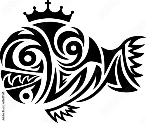 Fish - king tribal