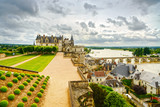 Amboise, medieval castle, river and bridge. Loire Valley, France