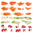 Carrot, radish isolated on white background
