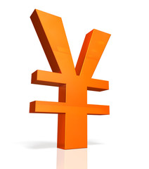 Icon of currency symbol of the Yen.