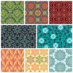 floral pattern collection, pattern swatches included