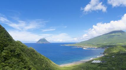 八丈富士と八丈小島