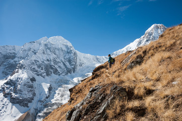 Trekking in Annapurna Region of Nepal.