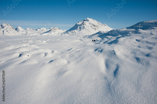 Foto op Canvas Antarctica 2 Winter snowy landscape of Kulusuk, small village in Greenland.