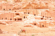 The cave of tombs in the ancient Jordanian city of Petra, Jordan