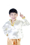 Asian happy boy in thai costume