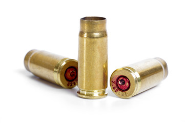 Shotgun cartridges isolated on white