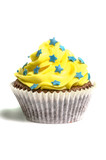 Yellow creamed sweet cupcake