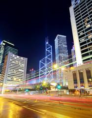 Hong Kong city traffic trail
