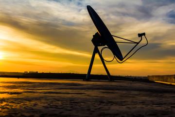 Satellite dish sky sunset