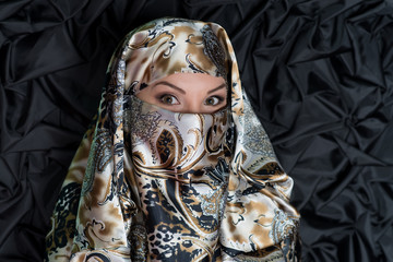 Woman in hijab, chador