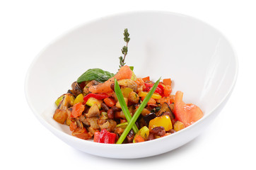 Ratatouille from vegetables