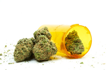 Medical Marijuana, Prescription Drug, White Background