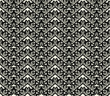 black lace seamless pattern on white background