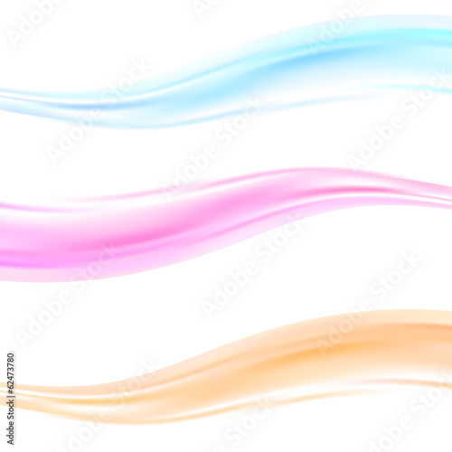 Abstract wave swoosh dividers templates
