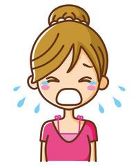 大泣きする女性