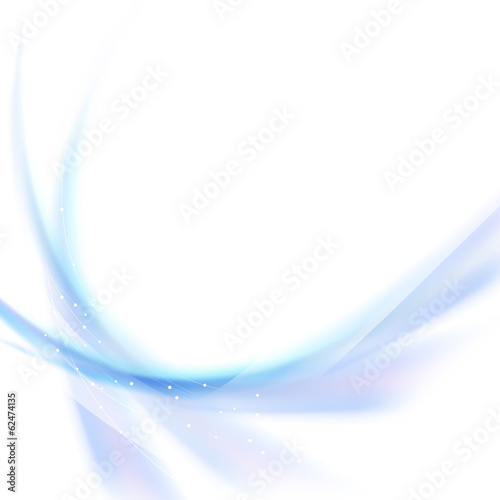 Blue smooth waves abstract background