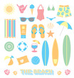 Vector Set: Beach Fun Objects - 62474711