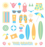 Vector Set: Beach Fun Objects