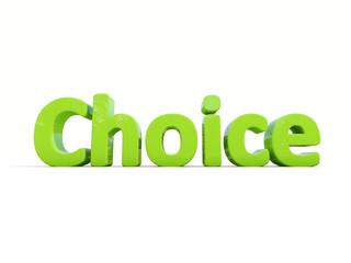 3d word choice
