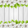 Flower on wooden background