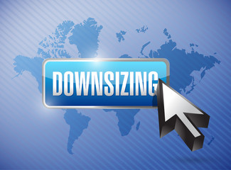 downsizing button button illustration design