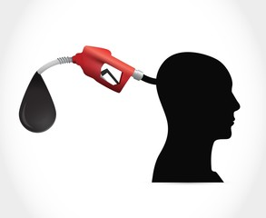 head and gas pump. illustration design
