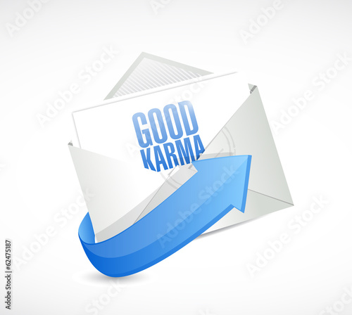 good karma email illustration design