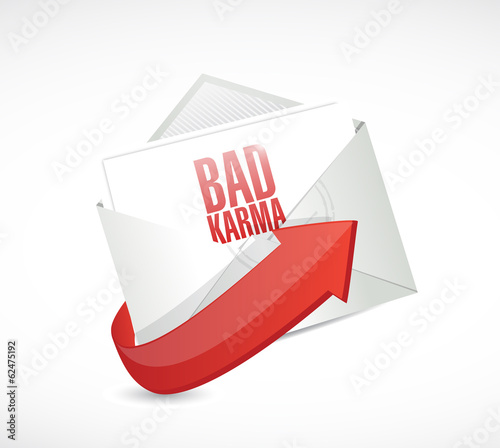 bad karma email illustration