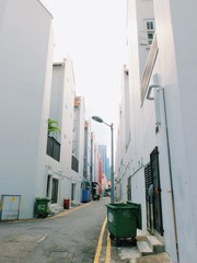 Narrow street in the china town, Singapore