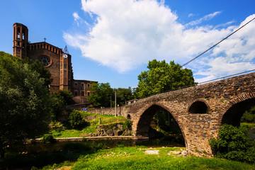 ancient church and medieval bridge