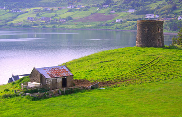 Frasers folly and Uig Bay on the Isle of Skye