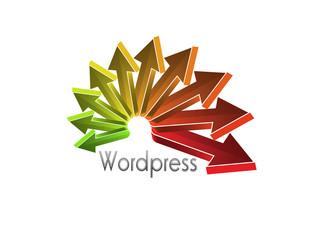 Logo flechas wordpress