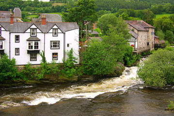 View of Llangollen, UK