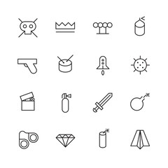 Thin Line Icons For Miscellaneous