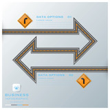 Road & Street Traffic Sign Business Infographic Design Template
