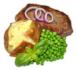 Baked Potato And Beef Steak Meal