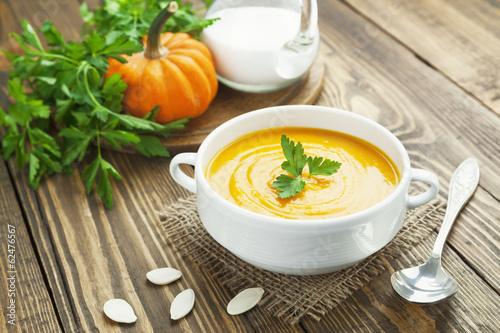 Papiers peints Entree, salade Pumpkin soup