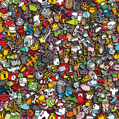 Icons seamless pattern