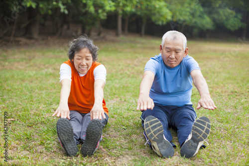 Senior couple doing exercise