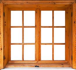 Wooden casement window exterior side