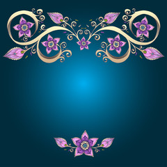 Decorative floral background with flowers.