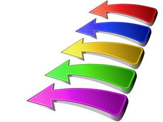 Logo flechas colores