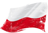 Polish grunge flag