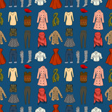 Fashion cartoon seamless background