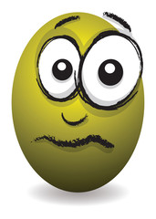 cartoon yellow upset egg face