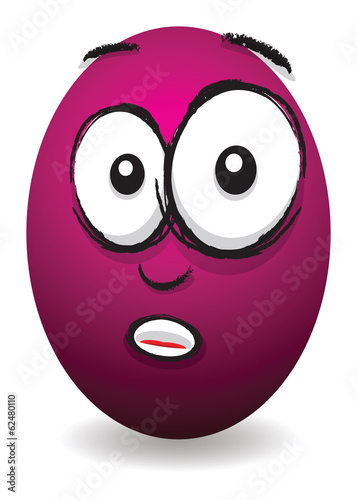 cartoon pink shocked egg face