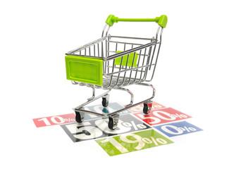 Einkaufswagen - Rabatt