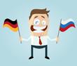 fahne deutschland russland mann business